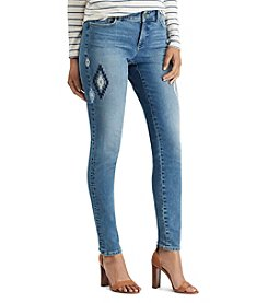 Chaps Denim Embroidered Skinny Jeans