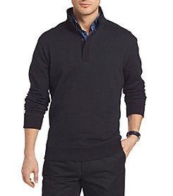 Van Heusen Men's Big & Tall Melange Mock Neck Pullover