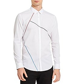 Calvin Klein Men's Chambray Dress Shirt