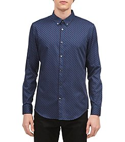 Calvin Klein Men's Geo Print Dress Shirt