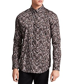 Calvin Klein Men's Optic Print Button Down