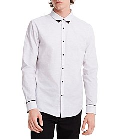 Calvin Klein Men's Slim Fit Space-Dyed Shirt