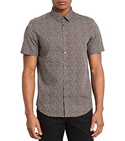 Calvin Klein Men's Blurred Crosshat Shirt