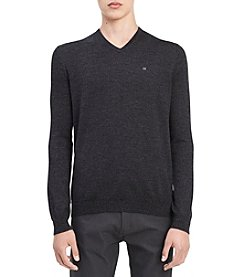 Calvin Klein Men's Solid Merino Wool V-Neck