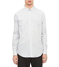 Calvin Klein Men's Mini Triangle Print Dress Shirt
