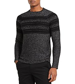 Calvin Klein Men's Knit Striped Sweater