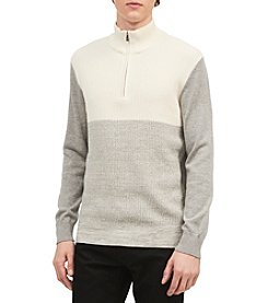 Calvin Klein Men's Whelk Stitch Colorblock Pullover Sweater