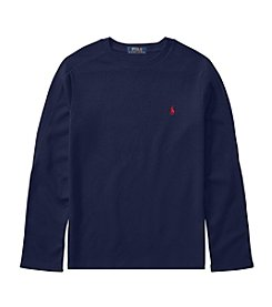 Polo Ralph Lauren Boys' 8-20 Long Sleeve Waffle Top