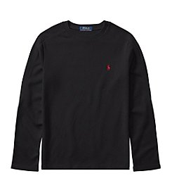 Polo Ralph Lauren Boys' 8-20 Long Sleeve Waffle Knit T Shirt