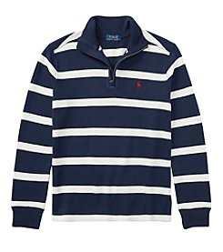 Polo Ralph Lauren® Boys' 2T-20 Long Sleeve Quarter Zip Sweater