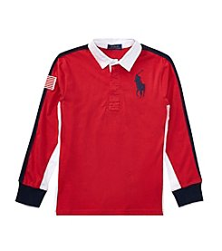 Polo Ralph Lauren Boys' 2T-20 Long Sleeve Jersey Rugby Top