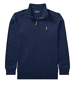 Polo Ralph Lauren Boys' 8-20 Long Sleeve Quarter Zip Polo Shirt