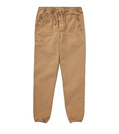 Polo Ralph Lauren Boys' 2T-20 Chino Paneled Terry Jogger Pants