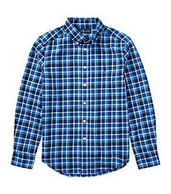 Polo Ralph Lauren Boys' 2T-20 Long Sleeve Plaid Twill Button Down Shirt