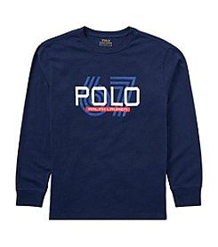 Polo Ralph Lauren Boys' 5-7 Long Sleeve Graphic Jersey Tee