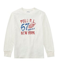 Polo Ralph Lauren Boys' 8-20 Long Sleeve Jersey Graphic T Shirt