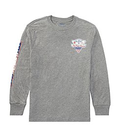 Polo Ralph Lauren Boys' 8-20 Long Sleeve Slub Jersey Graphic Tee