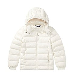 Polo Ralph Lauren Girls' 2T-16 Hooded Down Jacket