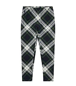 Polo Ralph Lauren Girls' 2T-16 Plaid Stretch Jersey Leggings