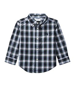 Lauren Baby Boys' 9M-24M Long Sleeve Plaid Button Down Poplin Shirt