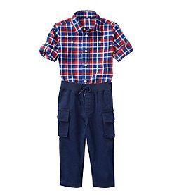 Lauren Baby Boys' Short Sleeve And Cargo Pants Set