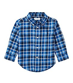 Lauren Baby Boys' 9M-24M Long Sleeve Plaid Button Down Shirt