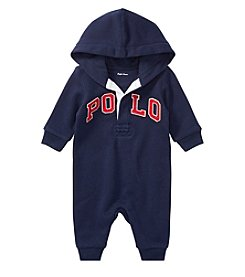 Lauren Baby Boys' Terry Hooded Polo Coverall