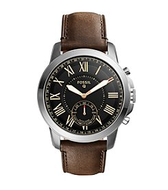 Fossil Men's Silvertone Leather Watch
