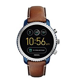 Fossil Men's Gen 3 Q Explorist Luggage Leather Smart Watch