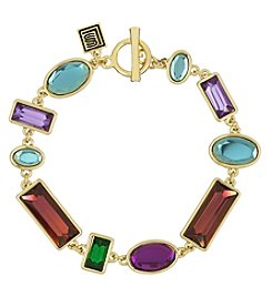 Laundry Goldtone Mixed Stone Bracelet