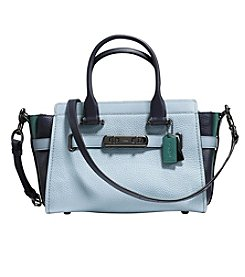 COACH Swagger 27 Colorblock Pebble Leather Satchel