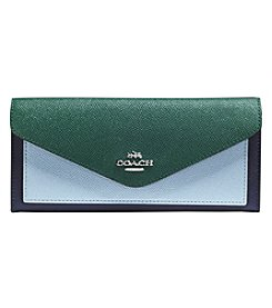 COACH Soft Wallet In Colorbock Crossgrain Leather