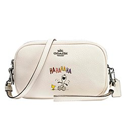 COACH SPY PEANUTS CROSSBODY CLUTCH IN POLISHED PEBBLE LEATHER