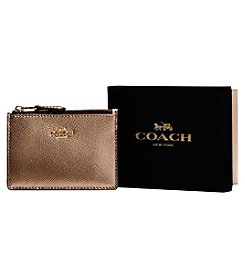 COACH Mini Skinny Id Case Wallet In Metallic Leather