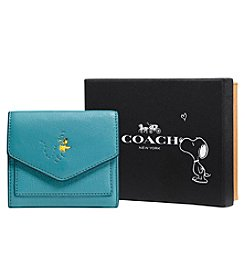 COACH BOXED SNOOPY WOODSTOCK SMALL WALLET