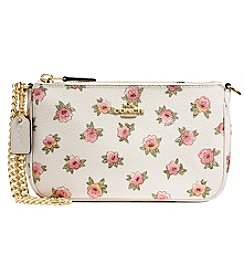 COACH NOLITA WRISTLET 19 IN FLORAL PATCH PRINTED CANVAS