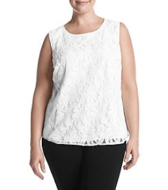 Kasper Plus Size Lace Blouse