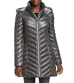 Laundry Puffer Jacket with Faux Fur Trim
