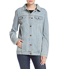 One 5 One Rooster Applique Jean Jacket