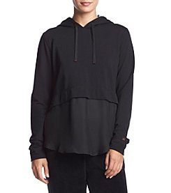 HUE Long Sleeve Hoodie With Shirttail