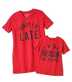 Doe Sorry Im Late Mom / Reason Toddler Screen Tees