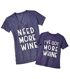 Doe Need More Wine / Got More Whine Screen Mom and Toddler Tees