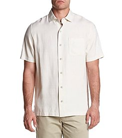 Paradise Collection Men's Cream Solid Plaid