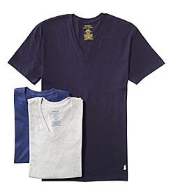 Polo Ralph Lauren Men's 3-Pack Cotton V-Neck Tee