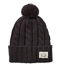 Levi's® Cable Beanie With Pom