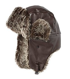 John Bartlett Statements Faux Leather Trapper Hat