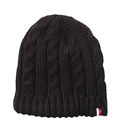 Tommy Hilfiger Chunky Fleece Lined Cable Hat