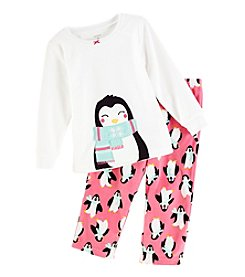 Carter's Girls' 2T-4T 2 Piece Long Sleeve Penguin Pajama Set