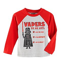 Star Wars Boys' 2T-4T Long Sleeve Vader Checks Out Top