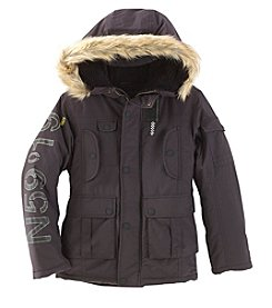 London Fog Boys' 8-20 Parka With Faux Fur